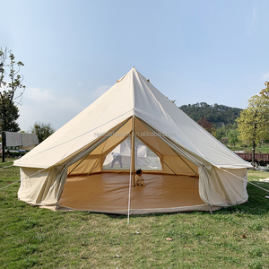 5m beige heavy duty canvas bell tent tepee emperor tent for glamping