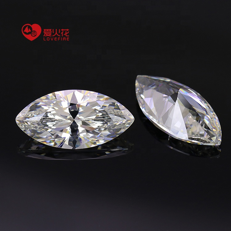 5AAAAA 4*8-7*14mm white marquise shape synthetic cubic zirconia loose cz <strong>stone</strong>