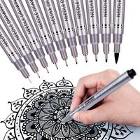 Black Precision Micro Line Pens, Waterproof Archival Ink ultra Fine Point Drawing fineliner Pen Set,Artist Illustration Drawing