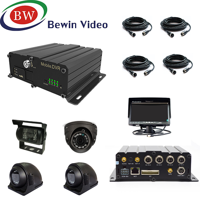 Vehicle <strong>DVR</strong> Dual SD Card 4ch 720p/960P 3g /4G Gps Wifi MDVR CCTV System for School Bus