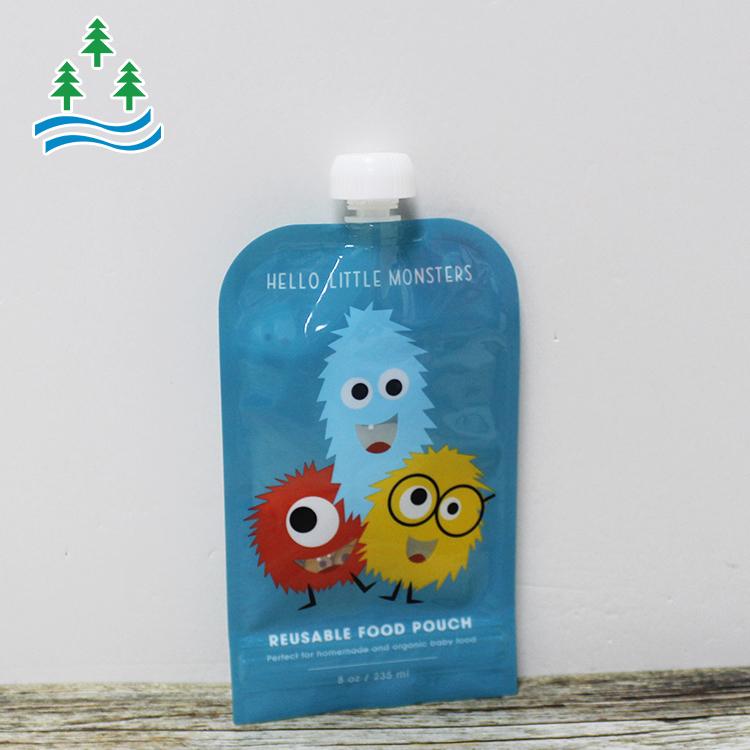 Stand up fruit packaging juice spout pouch foil aluminium pouch with spout