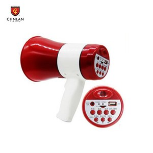 Promotion Travelling Rechargeable Battery Powered Megaphone with Siren USB TF card Record