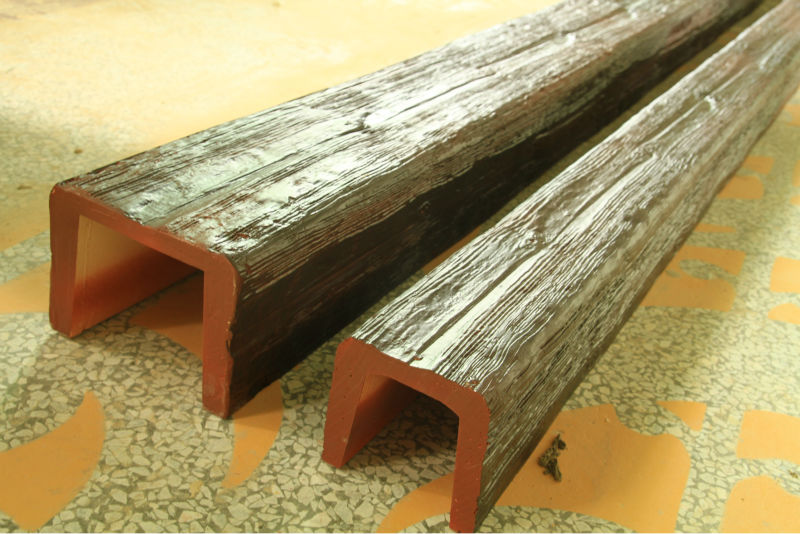Guangzhou Polyurethane Decorative Faux Wood Beams U Shape