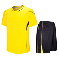 Custom yellow sport football training tshirt Professional soccer wear jersey design for men