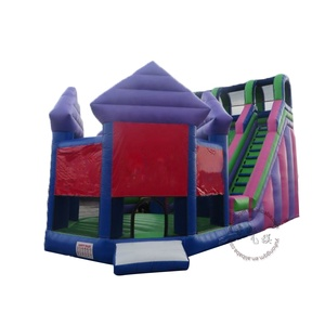 Pattern design inflatable jumping bouncer and slide for kids