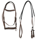 Colorful Fancy PVC Coated Nylon Plastic Horse Bridle In Brown Color