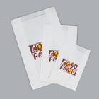 Factory bakery Food White Kraft Bread Packaging Paper Bags with logo With Plastic Window