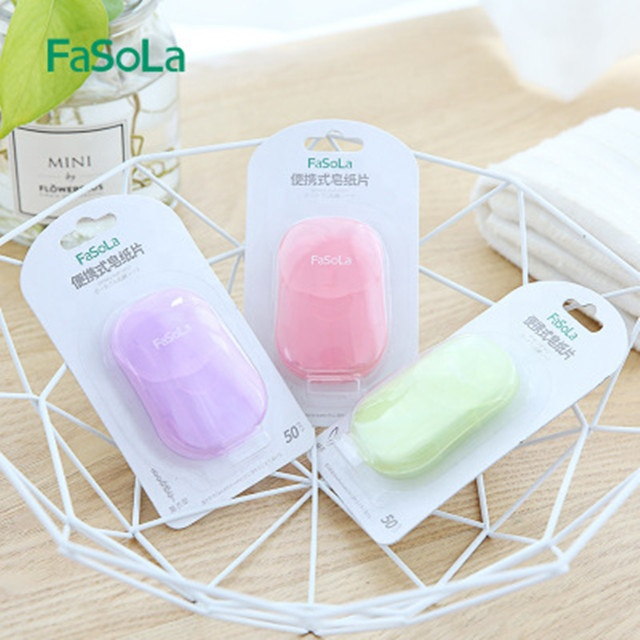 Mini paper soap for travel and hotel