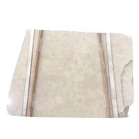 Newstar cheap tippy beige marbles breccia beige sandblasting marble ivory cream color tiles