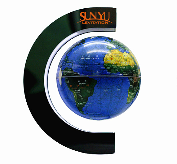 hot sell high quality 8 inches magnetic floating globe with LED inside