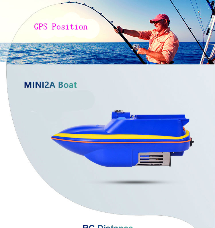Sonar Bait Boat Fishing Detect RC Boat Battery Powered Mini Remote Control Fish-tempting Light Portable Fishing Boat Hook Ship