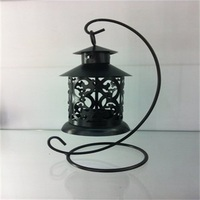European Style Classical Hollow Lantern Candlestick Retro Wedding Iron Candle Holders