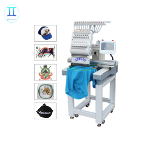 360*510mm single head 12 and 15 needles cap embroidery machine with computer