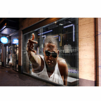 P10 cheap transparent led screen display,glass led transparent video wall