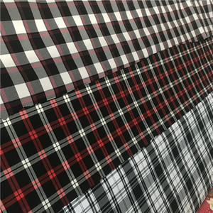 Wholesale keqiao polyester woven gingham check fabric