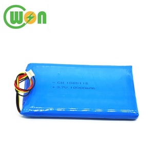 LiPo Battery Cell 3.7V 10000mAh 1065115 Lithium Polymer Battery with PCB and Connector