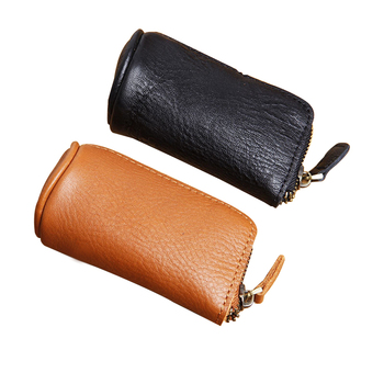 Genuine Leather Keychain Car Keys Ring Bags Small Coin Purse Zip Key Holder Buy Key Holder Leather Coin Purse Key Ring Product On Alibaba Com