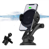 2019 trending amazon Factory price Wireless Car Charger Mount, Automatic Sensing Clamping Car Mount Holder, Phone Holder
