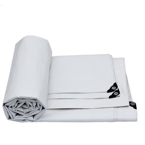 Waterproof White Grommets Trailer Canvas Tarp
