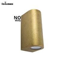 Savia indoor wall light 2*GU10 Max.35W IP44 waterproof vintage design gold surface mount outdoor garden/lawn aluminum wall lamp