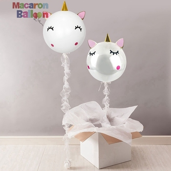 36inch,24inch,18inch Round Clear Balloons Filling Feather DIY Unicorn Balloon Kit It A Girl Baby Shower Decorations KBR043