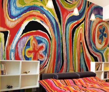 Gaya Colorful Seni Lukisan Abstrak Desain Fashion Dari Wallpaper Mural Buy Abstrak Muralkertas Dindingwallpaper Mural Product On Alibabacom