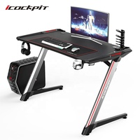 Latest design LED gaming table PC computer gaming desk
