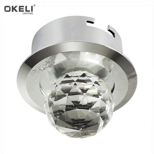 Distribution Decor Sphere Crystal Spot Recessed LED Light Epistar 3 Yrs Warranty High Bright IP54 CE RoHS Cob 15W Led Downlight