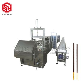 CE Certificated Multi-Function Chocolate Enrobing Machine CookieButter Dip Biscuits Machine For Sale
