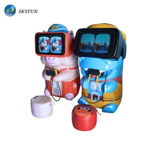 Kids gift!Skyfun free 10 games 9d vr kids coin operated game machine indoor entertainment equipment for sale