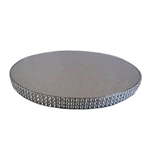 Corrugated round shape white foil cake drums with diamond