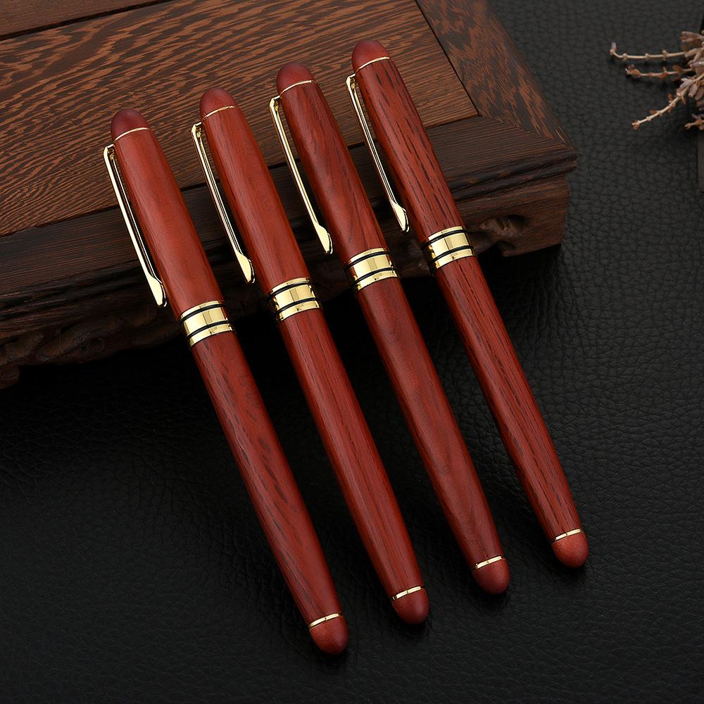 קלאסי בלנק מון מזרקת עט לוגו מותאם אישית יוקרה דיו עט עץ אמנות קליגרפיה עט
