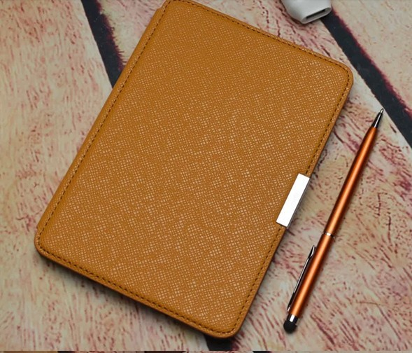 PU leather cover case for Amazon kindle paperwhite 1 and 2 and 3 touch  screen basic ereader ebook+ free screen protector+stylus