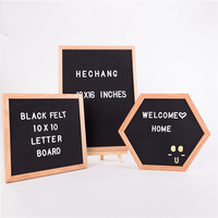 Black changeable felt letter board with oak frame