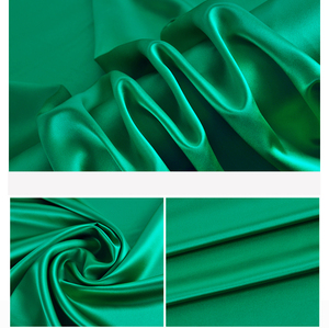 Good drapery soft smooth 30mm 100% silk satin fabric for dress