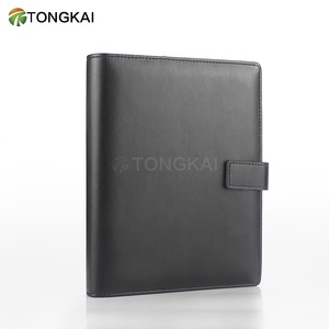 Black binder notebook daily diary booking binding cloth