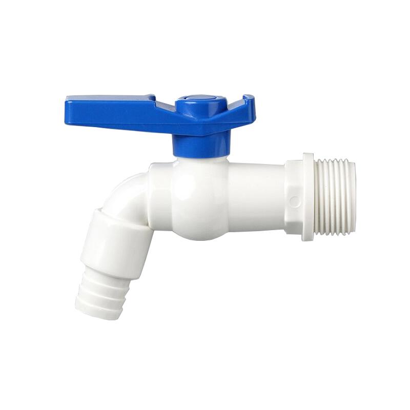 plastic garden faucet long handle two side open pvc water tap