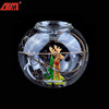 Round mini clear borosilicate glass candle holder with animal inside
