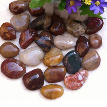Wholesale Semi Precious Loose Mix Color Natural Pebbles Stone on Sale