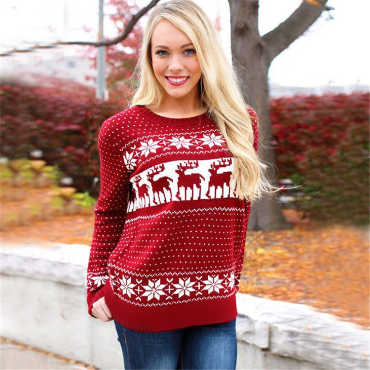 c7272cb2d2351 Оптовая продажа вязание свитер с оленями. Купить лучшие вязание ...