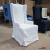High back wing white linen dining chair for event wedding