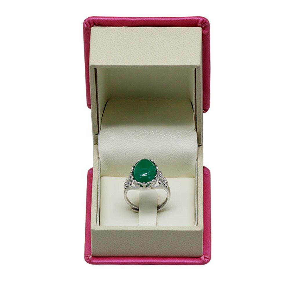 יוקרה נייר עור פלסטיק תכשיטי טבעת תיבת לאהבת יום