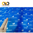 Low MOQ High quality 100% Cyan Wrapping Tissue Paper for clothes with Silver Logo Printing