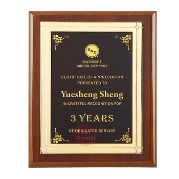 Wholesale Ready To Ship Popular MDF Award Plaques Wood For Certificate Of Authorization MOQ 1pc