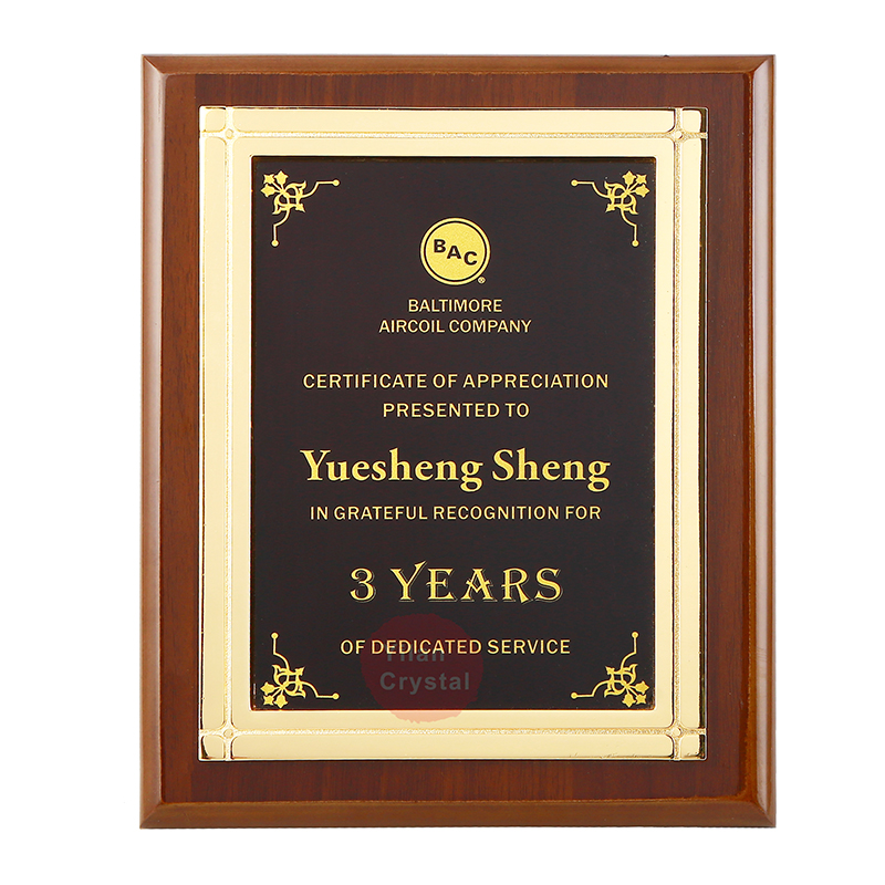 Wholesale Ready To Ship Popular MDF Award Plaques <strong>Wood</strong> For Certificate Of Authorization MOQ 1pc