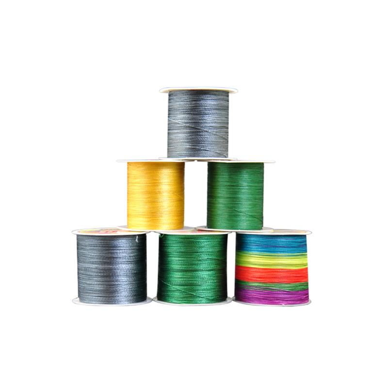 PE daiwa japanese fluorocarbon bulk braided nylon monofilament 4 strands fishing line braid, White