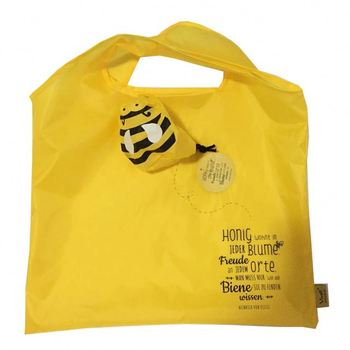 Customized branded 210D nylon eco bee foldable ball bag
