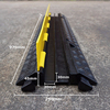 Rubber Driveway Curb Ramp 2 Channel Rubber Cable Protector 2 Channels Road Ramp Cable Protector