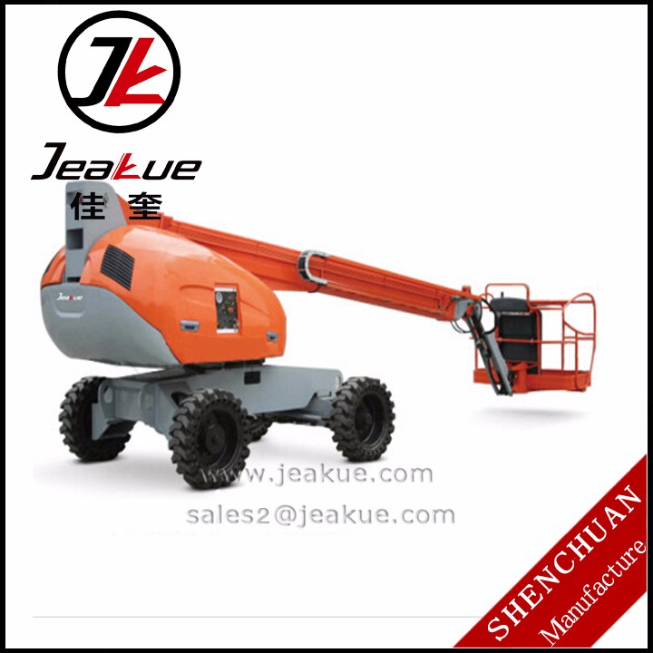 Self-propelled telescopic 34m 36m lifting aerial working platform