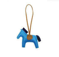 New Design Cute Bag Charm for Women Purse Charm Horse Leather Keychain Handbag accessory